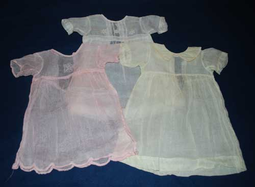 Baby dresses made from pineapple fibre.
