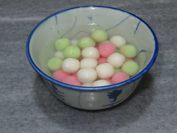 Glutinous rice balls for winter solstice