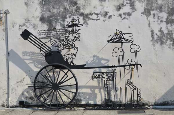 Photo shows an art installation in Penang.