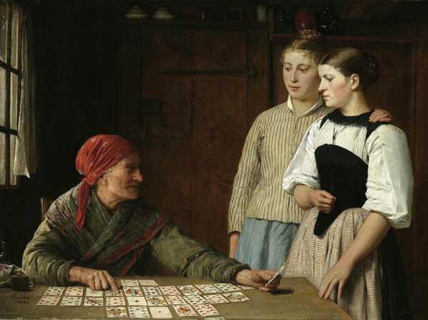 'Fortune Teller' by Albert Anker 1880.