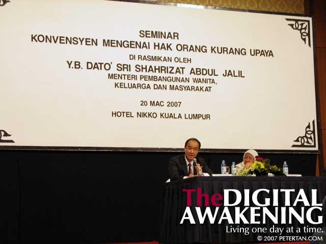 Associate Professor Osamu Nagase with Datuk Shamsiah Abdul Rahman