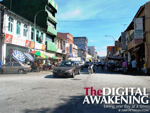 Jalan Bandar Timah in Ipoh Old Town